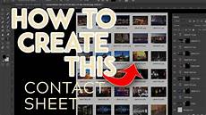 how to make a contact sheet using adobe bridge vimeo photoshop tutorial how to easily create a contact sheet