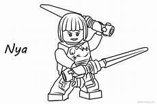 Malvorlagen Ninjago Nya Nya From Lego Ninjago Coloring Pages Free Printable