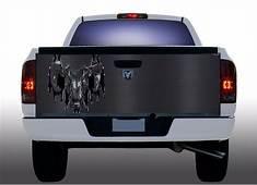 Carbon Fiber Dodge Ram Truck Tailgate Vinyl Graphic Decal