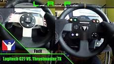 logitech g27 vs thrustmaster tx leather edition