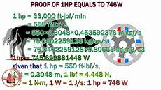 umrechnung ps kw proof of hp to watts how to convert 1hp to 746w 1hp what
