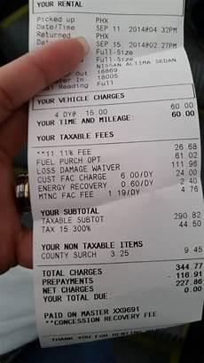 budget rental receipt budget rental car receipt for a four day rental yelp
