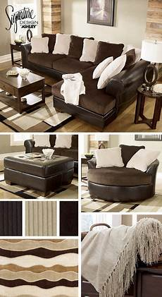 Home Decor Ideas With Brown Couches by Sectionals Living Room Furniture Brown And White