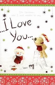 boofle i love you christmas greeting card cards love kates