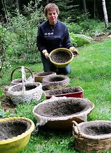 Gartenkunst Aus Beton - hypertufa garden the shape of blooms to come garden