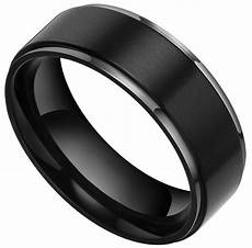 15 best ideas of black wedding bands