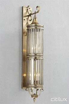 lighting australia meadowbank classic outdoor brass wall