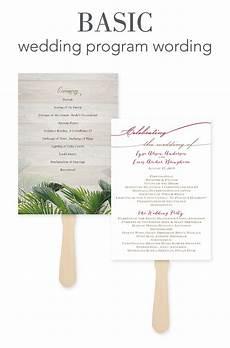 Wedding Program Wording Ideas