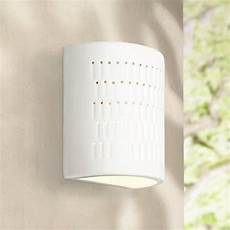 zenia 10 quot high white ceramic outdoor wall light w2761 ls plus