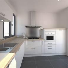 cuisine blanche design meuble iris blanc brillant
