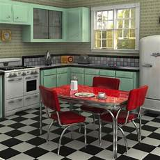 Küche 60er Style - rockabilly vibes the 1950s modern space shape