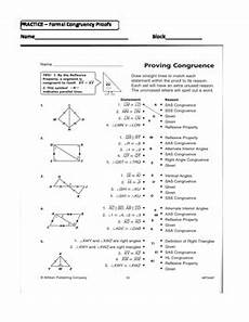 geometry proofs worksheets two column 921 geometry unit 8 congruent triangles 2 column proofs sss sas aas hl worksheet