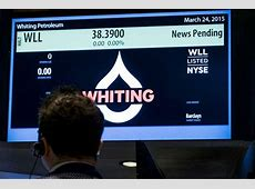 whiting petroleum stock after hours