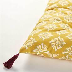 gaddiposh matratze aus baumwolle gelb mit wei 223 en