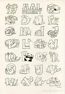 quot das malphabet quot alphabet mit tieren ausmalbild