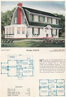 dutch colonial revival house plans home plan dutch colonial c 1923 c l bowes 12322 b