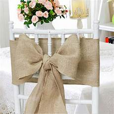 100 burlap 6 quot x108 quot chair cover sashes bows natural