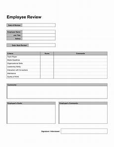 free 10 work review forms in pdf word