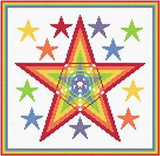free cross stitch patterns stars rainbow stars cross stitch pattern arts