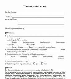 mietvertrag muster freeware de