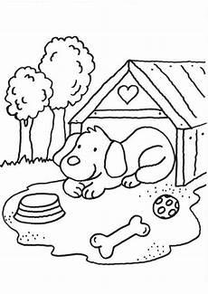 Malvorlagen Kinder Hunde Kostenlose Malvorlage Hunde Hund Vor Hundeh 252 Tte Ausmalen