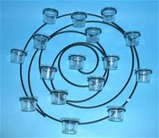 com wall sconce 16 votive tea light candle holder wreath black metal circular art