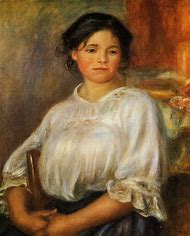 Renoir Seated Young Woman