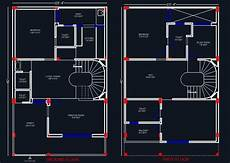 using autocad to draw house plans house space planning 25 x40 floor layout plan duplex