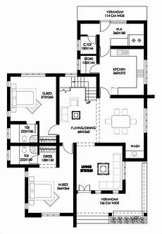 free house plans kerala style 3 bedroom beautiful home design with free plan free