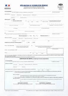 code de cession vehicule d 233 claration de cession certificat de cession cerfa 15776