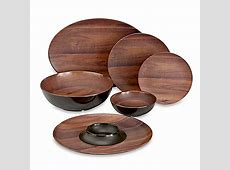 Phocacia Melamine Dinnerware Collection in Brown   Bed