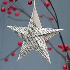 Weihnachtsdeko Basteln Aus Papier - newspaper decorations paper