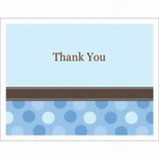 templates blue dots thank you note card 2 per sheet