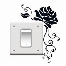 diy art light switch removable rose flower wall sticker home vinyl decal decor 4ws0115 in wall