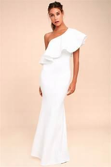 lovely white dress one shoulder dress maxi dress 84 00
