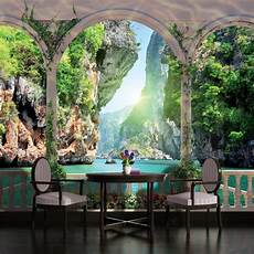 designer wall murals arches paradise view photo wallpaper wall mural room