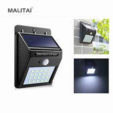 20 led solar power light pir motion sensor wall l