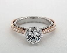 engagement rings verragio platinum and rose gold
