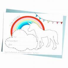 Einhorn Ausmalbild Einladung Einhorn Einladungskarten Unicorn Invitations Einhorn