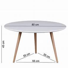 finebuy design couchtisch skandi 80 x 80 x 45 cm form rund