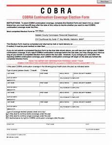 filling cobra election coverage fill online printable fillable blank pdffiller