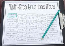 algebra worksheets multi step equations 8494 solving multi step equations maze worksheet solving equations one step equations 8th grade