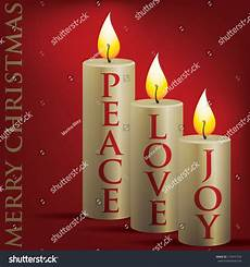 merry christmas peace love candle card in vector format 119471704