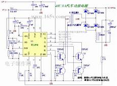 tl494 control car audio inverter power supply circuit diagram world