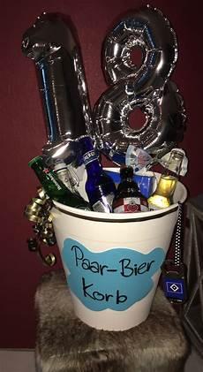 18 geburtstag ideen paar bier korb 18 geburtstag geschenkidee 18geburtstag