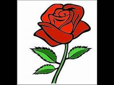 Cara Menggambar Bunga Mawar Merah Berduri Indahhhhh