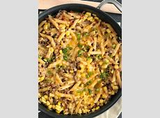 {30 minutes, one pan} BBQ Beef Pasta Skillet   Together as