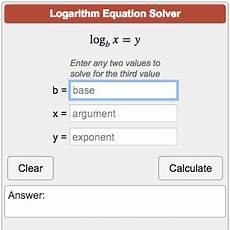 logarithm equation calculator