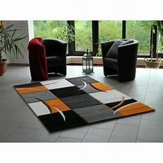 Tapis Design Pour Salon Orange 120 X 170 Cm Achat
