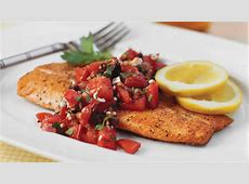 Pan Seared Trout With Italian Style Salsa   Quick and Easy
